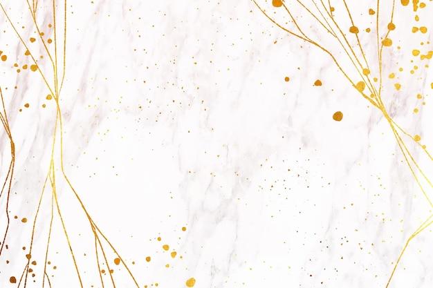 Papel branco com manchas douradas