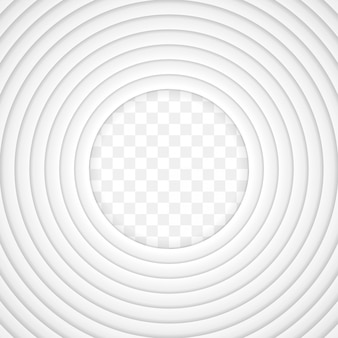 Papel branco de vetor cortado fundo com sombra interna