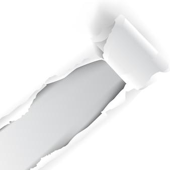 Papel branco rasgado