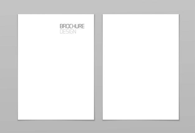 Papel cartão de página a4 vazio modelo em branco para apresentação de identidade visual