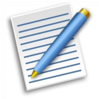 Papel com caneta