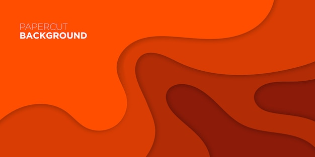 Papel cortado 3d fundo laranja