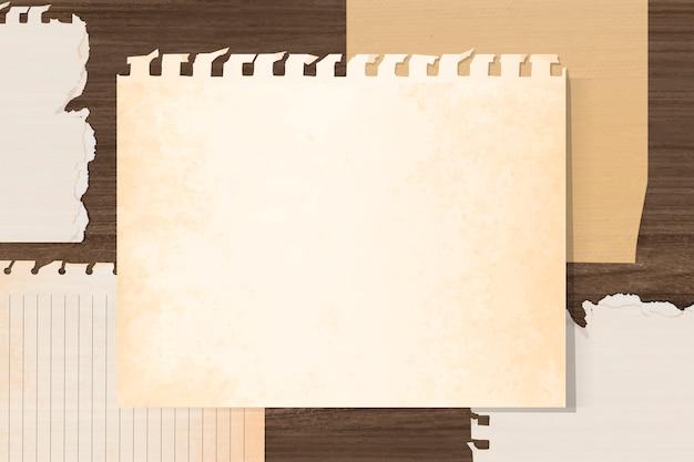 Papel de caderno vintage vazio