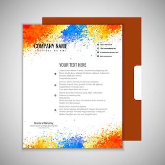 Papel de carta colorido