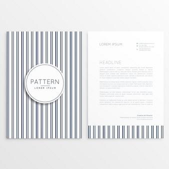 Papel de carta com linhas verticle padrão