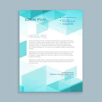 Papel de carta moderno criativo com formas abstratas