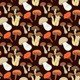 Papel de embrulho com cogumelo diferente