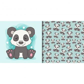 Papel de embrulho com imagens fofas de panda