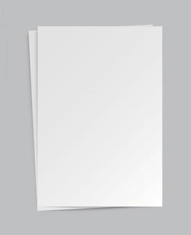 Papel de formato a4 com sombras.