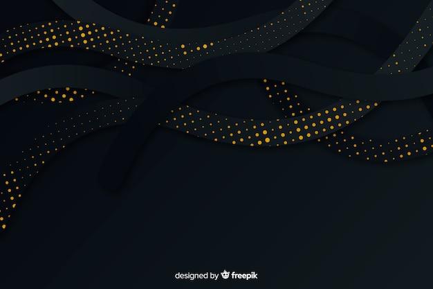 Papel de fundo preto efeito de meio-tom