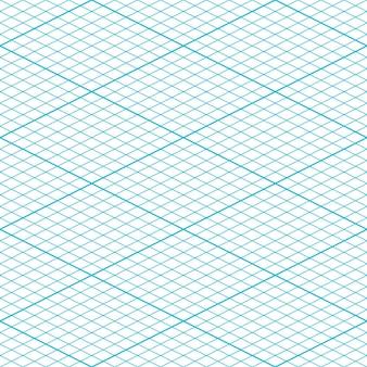 Papel de grade isométrica. padrão uniforme. fundo de grade quadrada. ilustração vetorial.