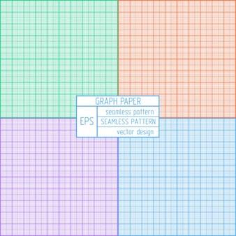 Papel de gráfico padrão definido real scalemulticolor