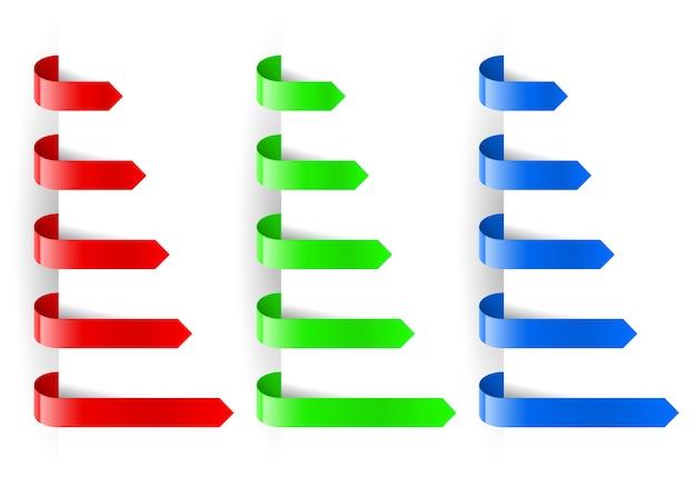 Papel de marcador de setas coloridas