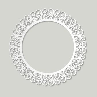 Papel de moldura de filigrana recortado. design vintage barroco.