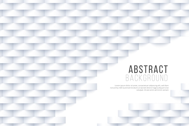 Papel de parede abstrato branco em design 3d