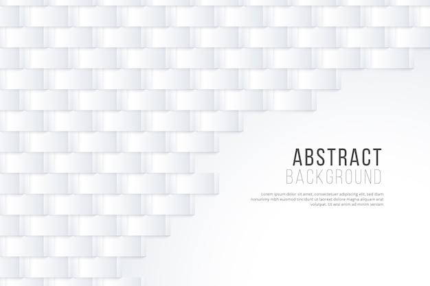 Papel de parede abstrato branco em estilo 3d