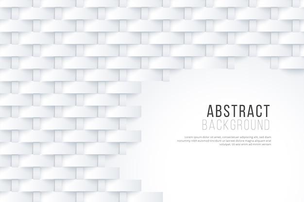 Papel de parede abstrato branco no conceito 3d