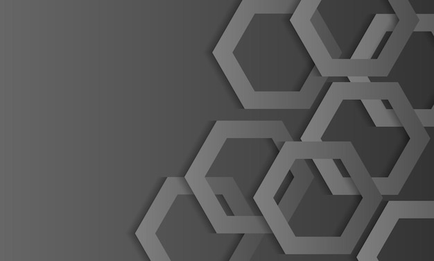 Papel de parede abstrato cinza com camada sobreposta de hexágono geométrico. design para o seu papel de parede