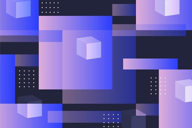 Papel de parede abstrato com formas geométricas