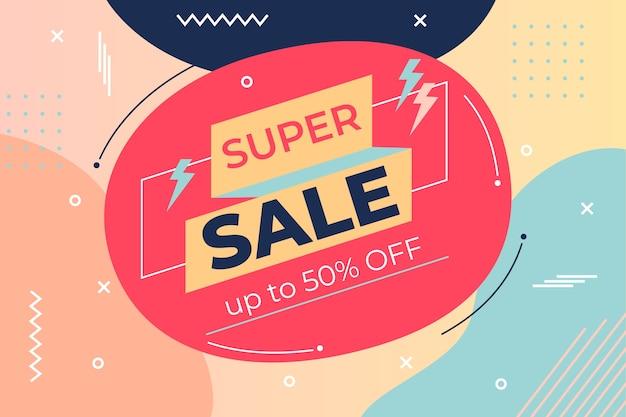 Papel de parede abstrato de vendas com elementos coloridos
