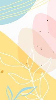 Papel de parede abstrato do celular de memphis em tons pastel