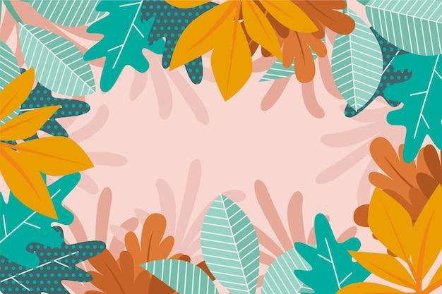 Papel de parede abstrato floral