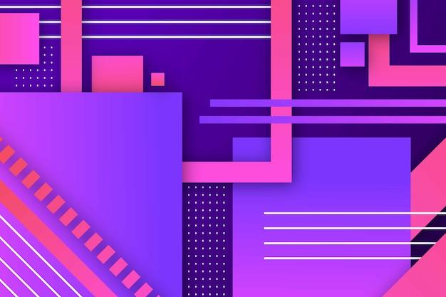 Papel de parede abstrato formas geométricas gradientes