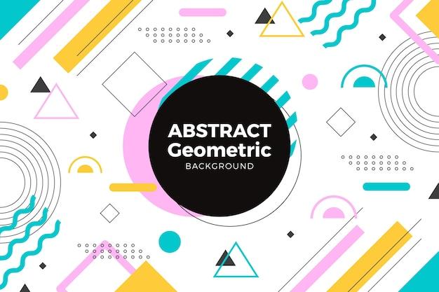 Papel de parede abstrato formas geométricas