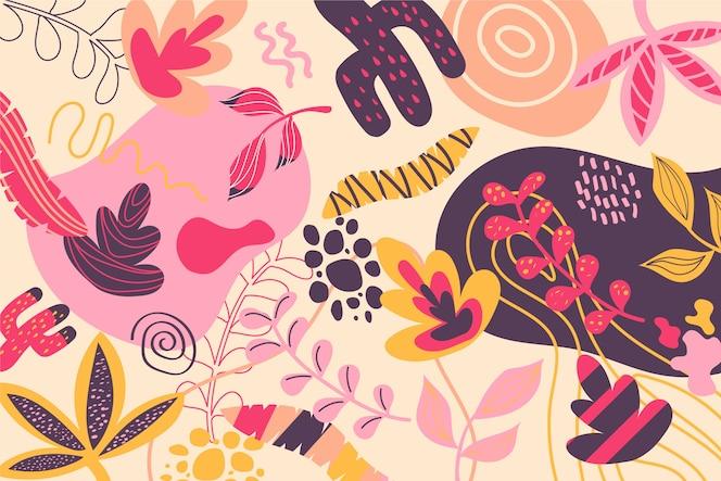 Papel de parede abstrato formas orgânicas
