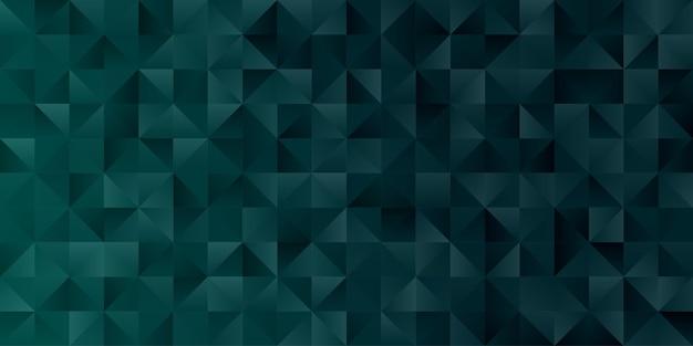 Papel de parede abstrato geométrico do fundo do polígono. capa do cabeçalho com formato triangular verde esmeralda polido baixo