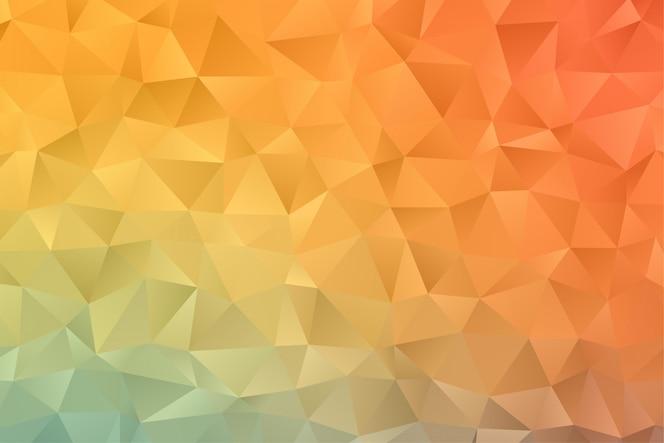 Papel de parede abstrato geométrico. vetor premium de hexágono de polígono colorido