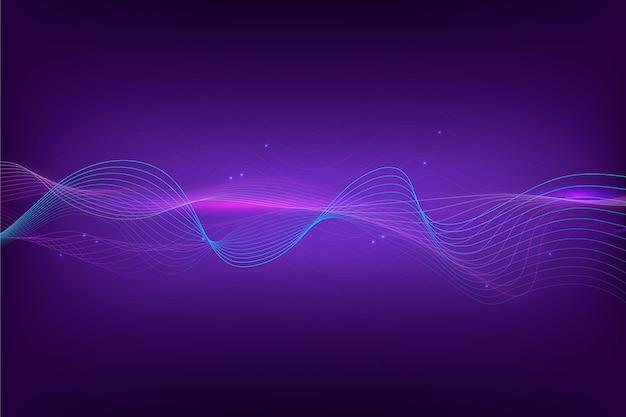 Papel de parede abstrato onda equalizador