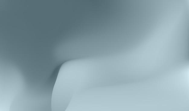 Papel de parede abstrato ondulado ilustração vetorial gráfico de fluxo cinza e azul