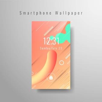 Papel de parede abstrato smartphone elegante