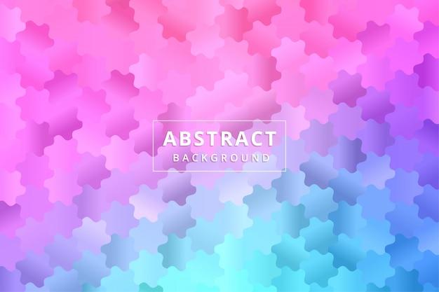 Papel de parede abstrato. vetor premium de hexágono de polígono colorido