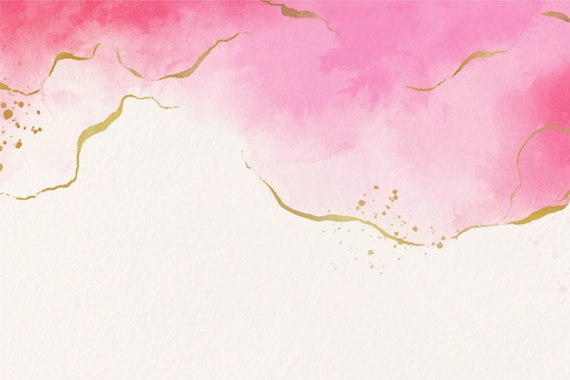 Papel de parede aquarela com folha dourada