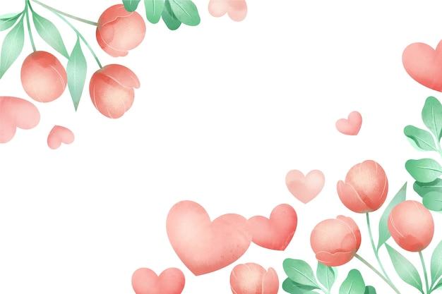 Papel de parede aquarela dia dos namorados
