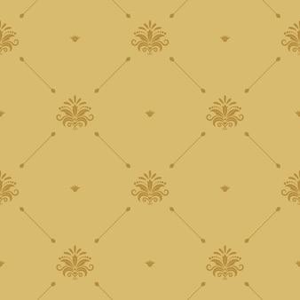 Papel de parede barroco aristocrático sem emenda. plano de fundo padrão retro vitoriano.