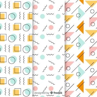Papel de parede coleção padrão memphis