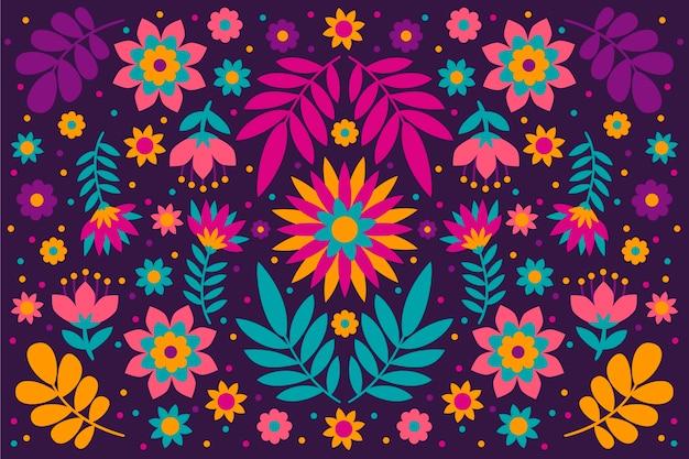 Papel de parede colorido com conceito mexicano