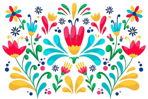 Papel de parede colorido com design mexicano