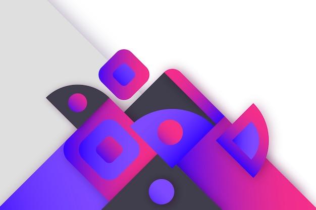 Papel de parede colorido com formas geométricas
