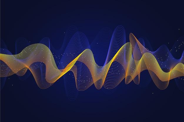 Papel de parede colorido da onda do equalizador