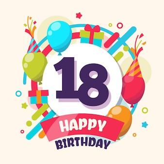 Papel de parede colorido de feliz aniversário com balões