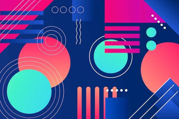 Papel de parede colorido formas geométricas gradiente