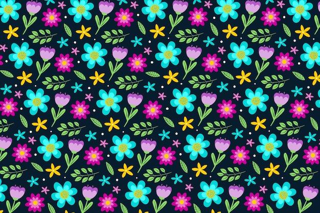 Papel de parede colorido servindo de impressão floral