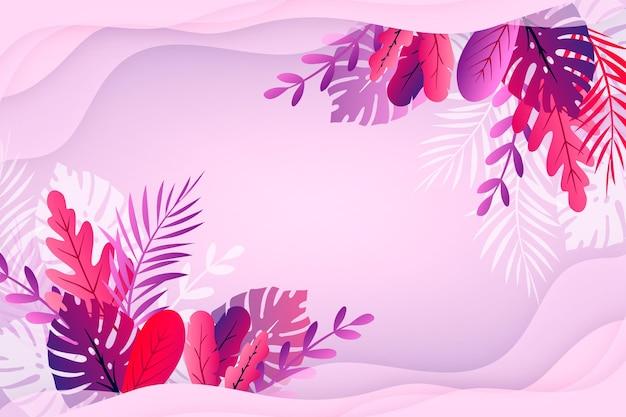Papel de parede colorido verão com folhas
