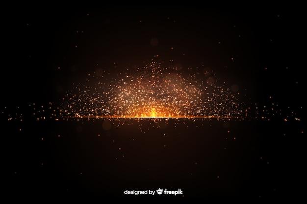 Papel de parede com design de partículas de explosão
