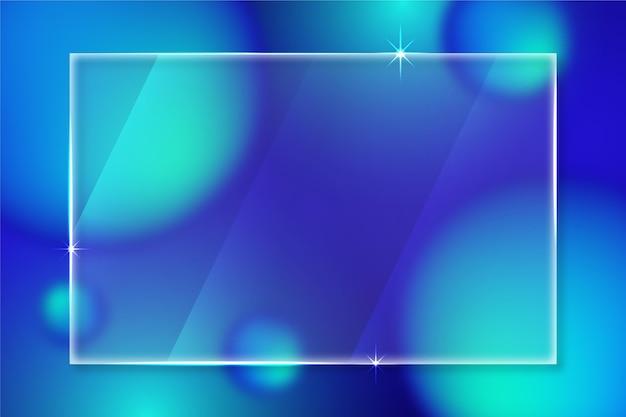 Papel de parede com efeito de vidro realista