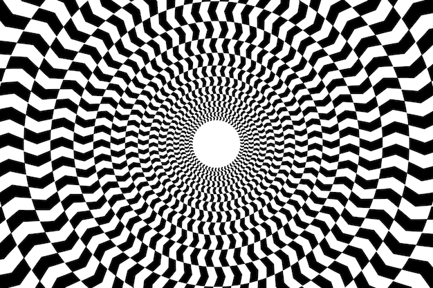Papel de parede com ilusão de ótica psicodélica